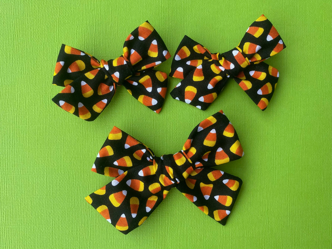 Candy Corn - Fabric Hand Tied Bow