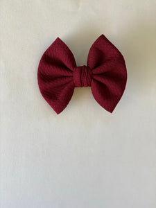 "Burgundy - 3"" Small Bow"