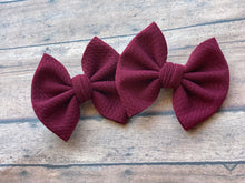 "Load image into Gallery viewer, Burgundy - 3"" Small Bow"