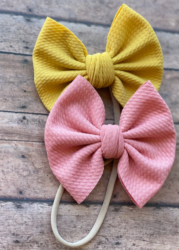Pale Rose Big Bow