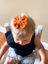"Load image into Gallery viewer, Pumpkin- 3"" Small Bow"