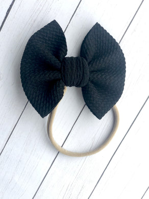 "Black - 3"" Small Bow"