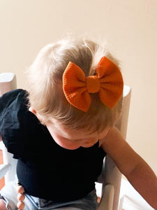 "Pumpkin- 3"" Small Bow"