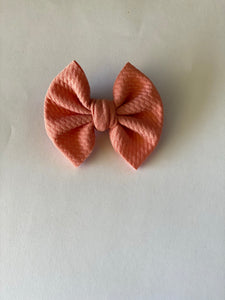 "Pale Rose - 3"" Small Bow"