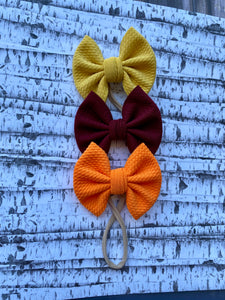 "Honey Mustard - 3"" Small Bow"