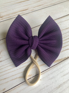 Deep purple Big Bow