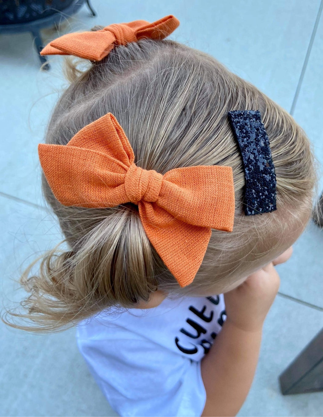Pumpkin Solid- Fabric Hand Tied Bow