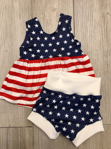 Stars and Stripes -4th- Bummies and Peplum Outfit