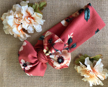 Load image into Gallery viewer, Burnt Orange Floral Head Wrap - SALE