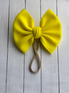 Sunshine Yellow Big Bow