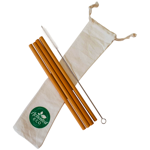 Bamboo Straw Set of Four