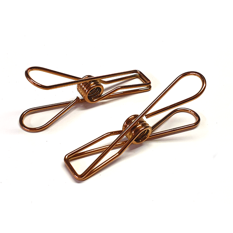 Rose Gold Stainless Steel Infinity Clothes Pegs Large Size