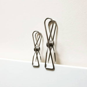 Stainless Steel Infinity Clothes Pegs Large Size