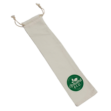 Cotton Reusable Straw Storage Pouch | Eco Drawstring Bag