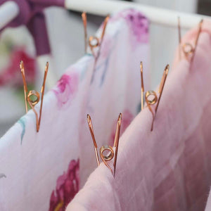 Rose Gold Stainless Steel Infinity Clothes Pegs | Marine Grade
