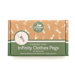 Stainless Steel Infinity Clothes Pegs 20 Pack