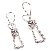 Twin Pack Stainless Steel Infinity Clothes Pegs 40 Regular & 10 Large