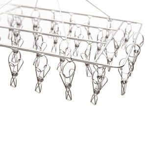 Stainless Steel Sock Hanger 316 Marine Grade with 36x Pegs