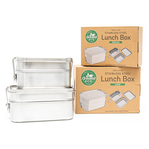 Save 15% - Stainless Steel Two Layer Lunch Box Bundle