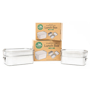 Stainless Steel Two Layer Lunch Box 1340ml or 1960ml