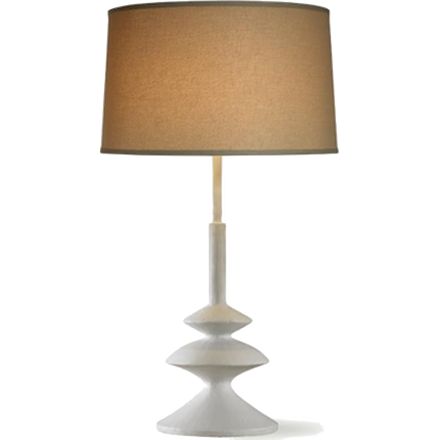 Almeria Table Lamp- White Smooth Gesso