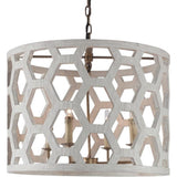 Angeline Chandelier - White Rustic