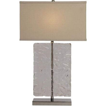 Antarctic Table Lamp - Rectangular Lucite Lamp
