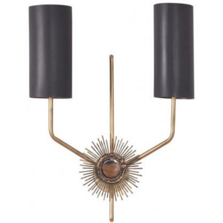 Astral Wall Lamp - Aged brass sconce with a mounting plate