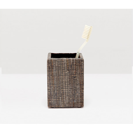 Bali Brush Holder in brown