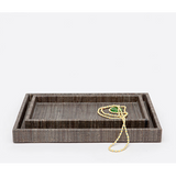 Bali tray set in brown