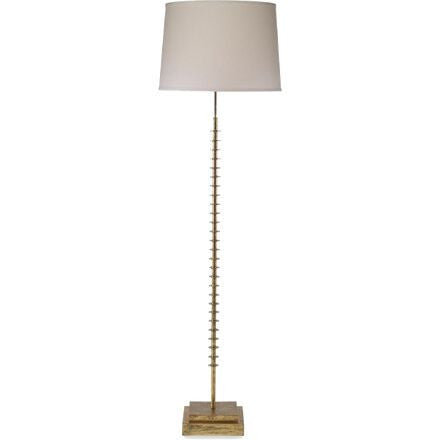Bartoli Floor Lamp - Floor lamp with molded ring details, finished in Kings Gold.
