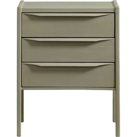 Three Drawer Bedside Table (other finishes available)
