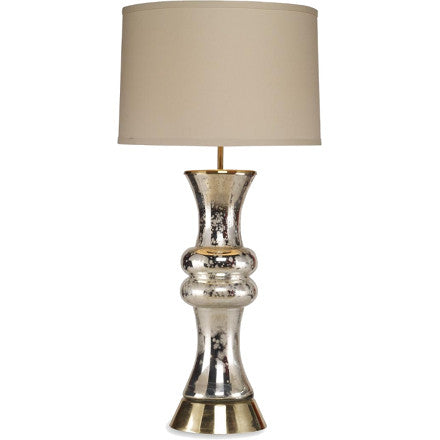 Dipped Silver Bianca Table Lamp - Artisan Table Lamp on Brass Base