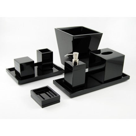 Black Lacquer Bath Accessories