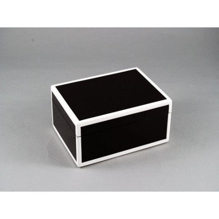 Black with White Trim Lacquer Box Collection