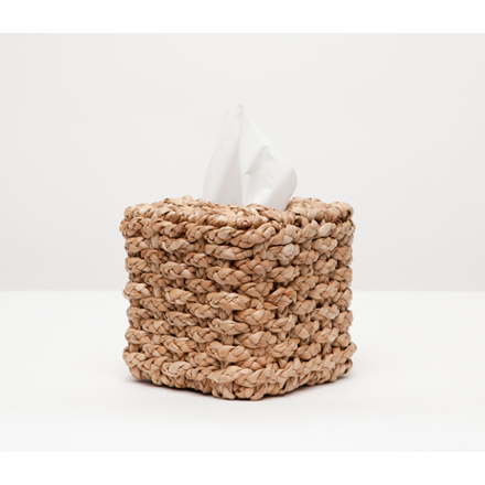 Braided Seagrass Destin Tissue Box Bath Accessory