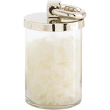 "Arteriors Home Small Brooke Canister is glass and has a polished nickel top. Perfect for storing small items. 4½""Diameter x 7""H."