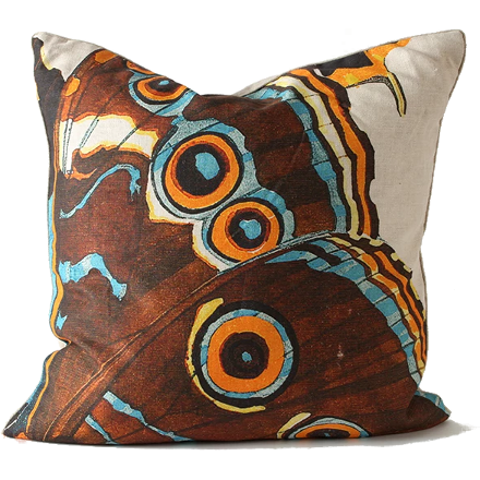 Brown Butterfly Pillow