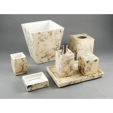 Carrara Inlay Lacquer Bath Accessories