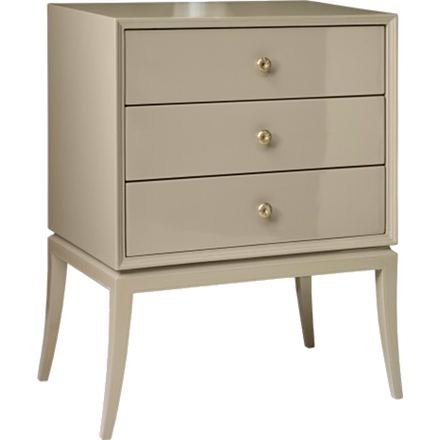 Chest with Three Drawers and Brass Pulls (other finishes available)