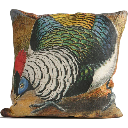 Colorful Pheasant Square Pillow