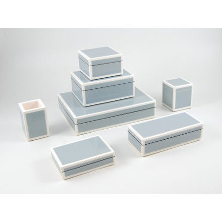 Cool Gray with White Trim Lacquer Box Collection