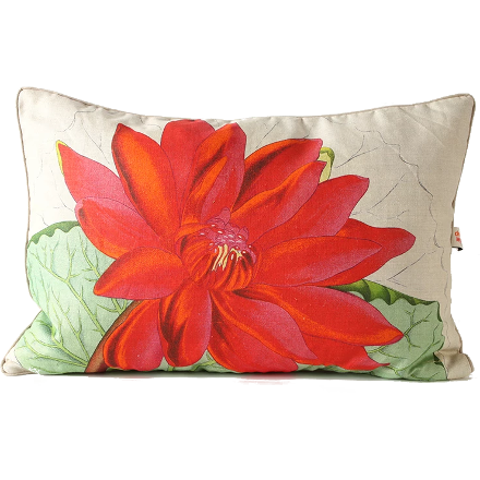 Crimson Water Lilly Pillow