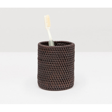 Coffee Rattan brush holder