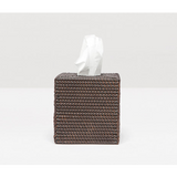 Coffee Rattan tissue box