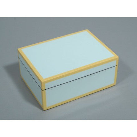 Duck Egg with Beige Trim Lacquer Box Collection