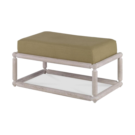 Mr. Brown Dunstans Ottoman - Country White Oak