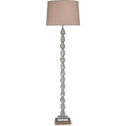 Finlandia Floor Lamp - Clear Glass with Silver Base