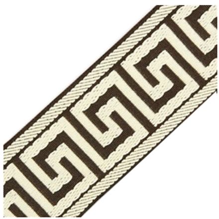 Accent Greek Key Tape, Brown/Ivory
