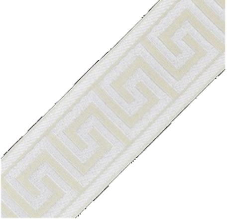 Accent Greek Key Tape, Ivory/White